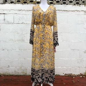 🚫SOLD🚫 NWT Yellow Floral Dress